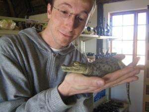Berkan and his favourite reptile