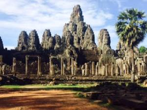 Ancient temples: Amanda visited the Angkor Wat Temple in Siem Riep, Cambodia.
