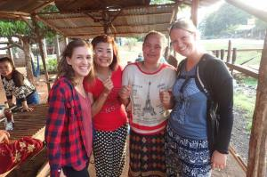 Hanging with locals in Pakse, Laos